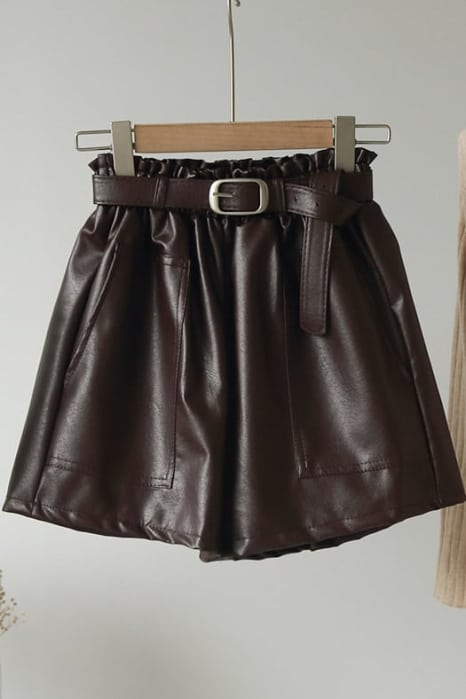 ΣΟΡΤΣ LEATHER LOOK PAPERBAG