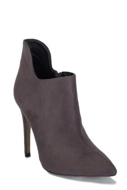 Suede Pointed Ankle Boots