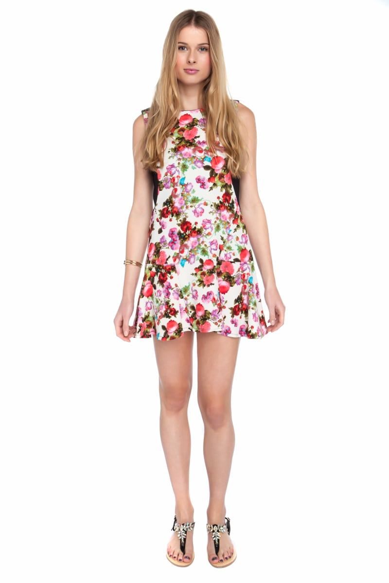 Girly floral mini φόρεμα